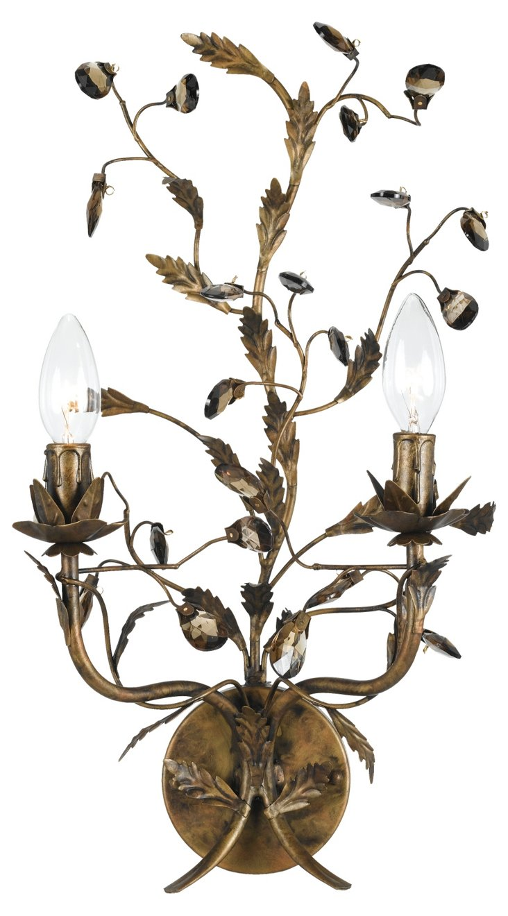 Candace 2-Light Sconce, Bronze