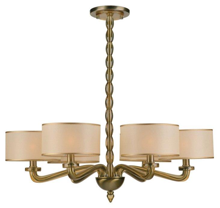 Luxo 6-Light Chandelier, Brass
