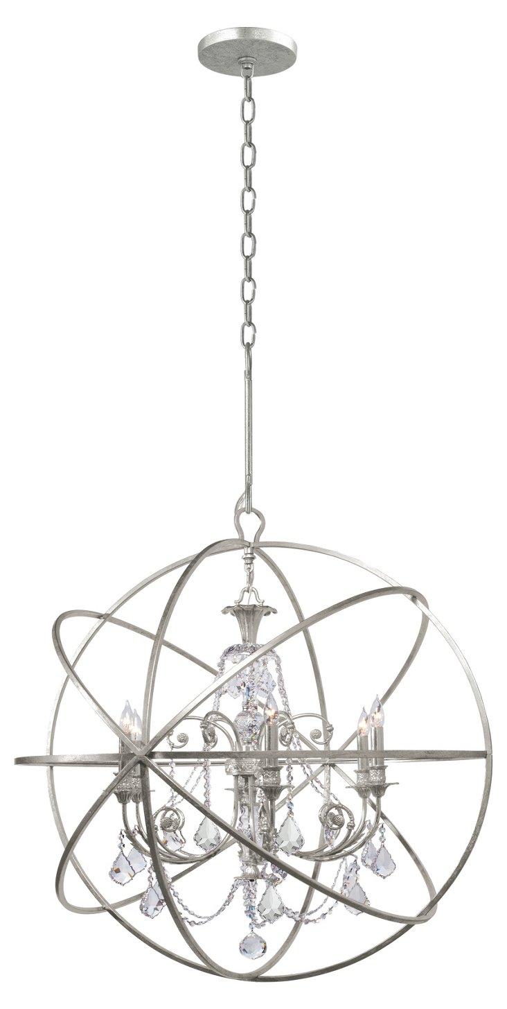 Solaris Chandelier, Antique Silver