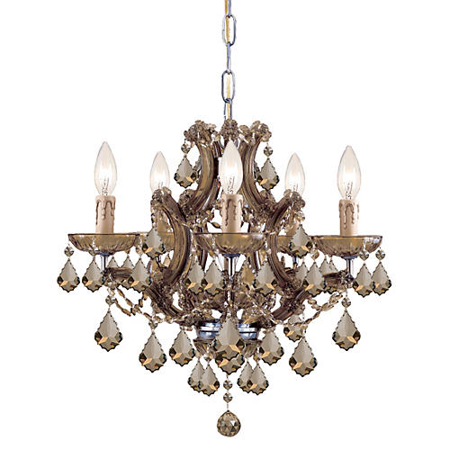 Maria Theresa 6-Light Chandelier, Gold