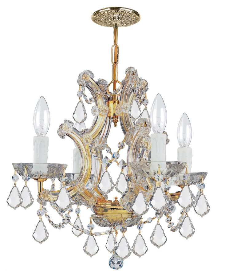 Maria Theresa 4-Light Chandelier, Gold