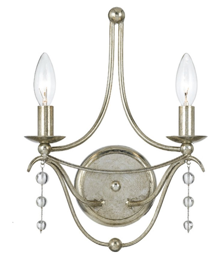 Metro Wall Sconce, Antiqued Silver