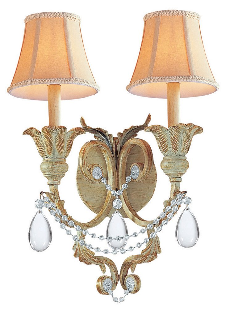 Winslow 2-Light Sconce, Champagne