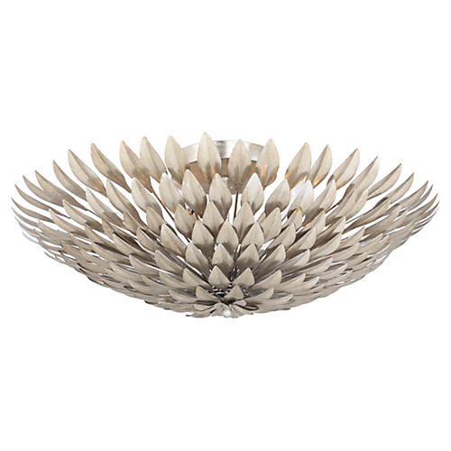 Broche 6-Light Semi-Flush Mount, Silver