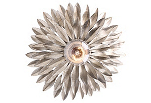 Broche 1-Light Wall Sconce, Silver*
