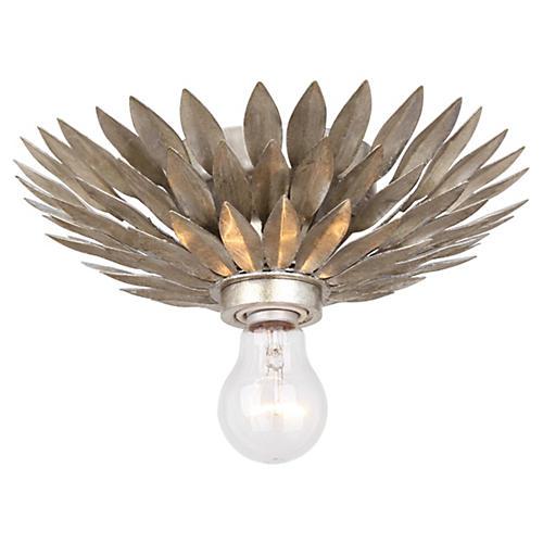 Broche 1-Light Flush Mount, Silver