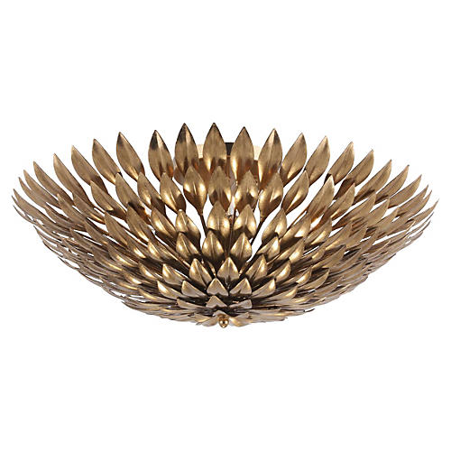 Broche 6-Light Semi Flush Mount, Gold