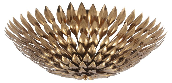 Broche 6-Light Semi Flush Mount, Gold