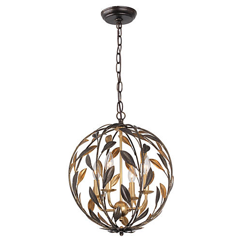 Broche Chandelier, English Bronze
