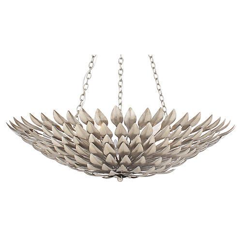 6-Light Pendant Chandelier, Silver