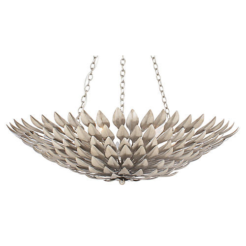6-Light Pendant Chandelier, Silver