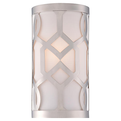 1-Light Wall Sconce, Polished Nickel