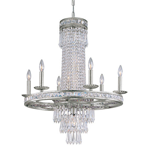 Mercer 10-Light Chandelier, Olde Silver