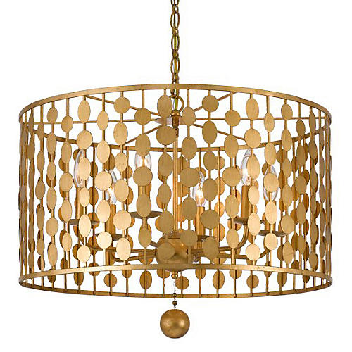 Layla Chandelier, Antique Gold