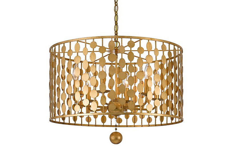 Layla Chandelier - Antique Gold - Crystorama