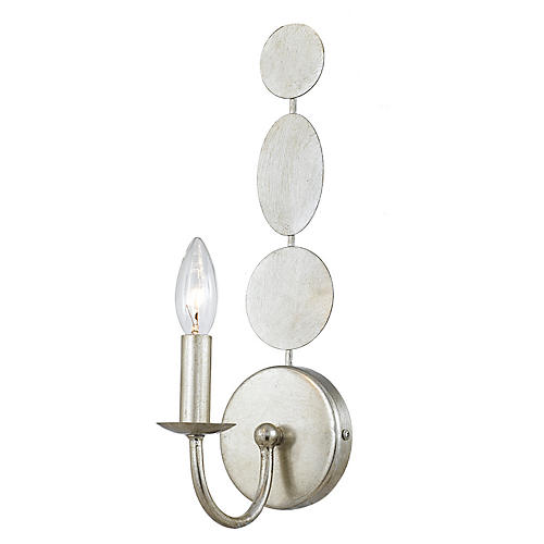 Layla 1-Light Sconce, Antique Silver