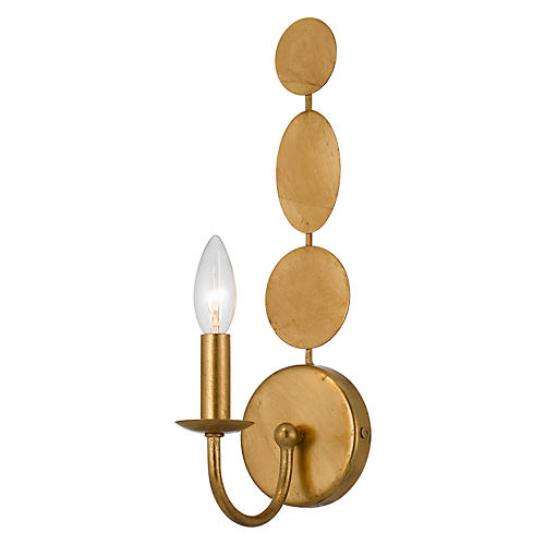 Layla 1-Light Sconce, Antiqued Gold