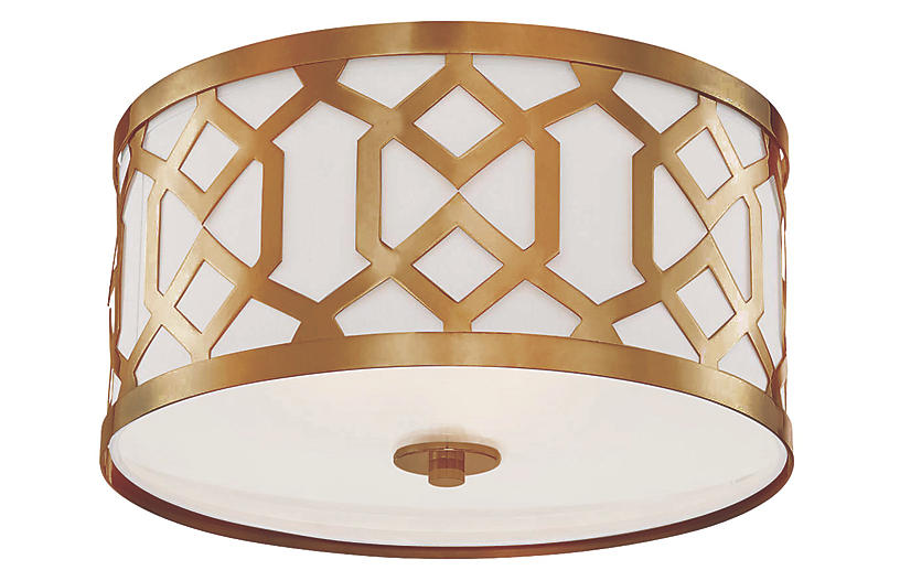 Jennings 3-Light Ceiling Mount, Brass