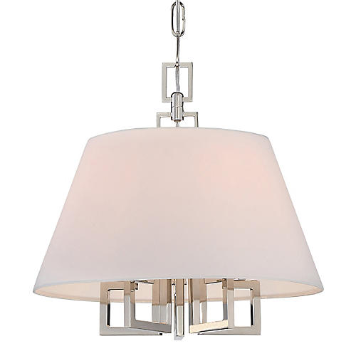 5-Light Chandelier, Polished Nickel