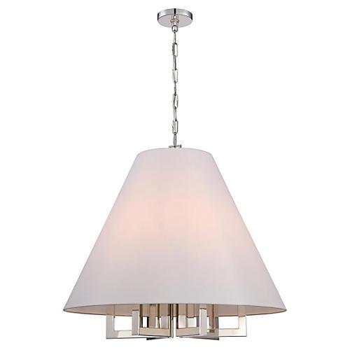 6-Light Chandelier, Nickel