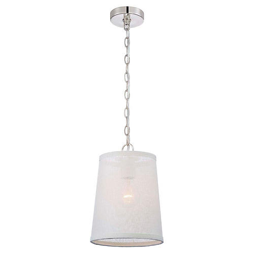 1-Light Pendant, Polished Nickel
