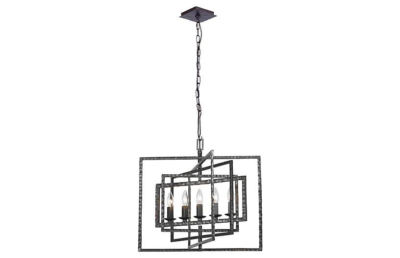 5-Light Chandelier, Steel