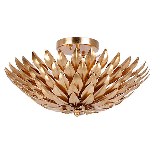Jefferson Semi-Flush Mount, Gold