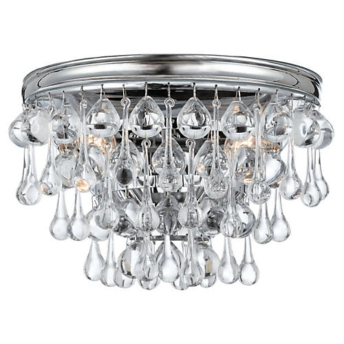 Calypso 2-Light Sconce, Chrome