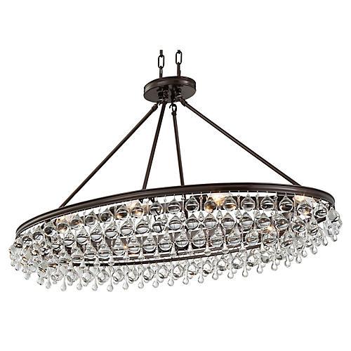 Calypso 8-Light Oval Chandelier, Bronze
