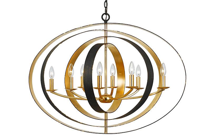 Luna 8-Light Oval Chandelier, Bronze