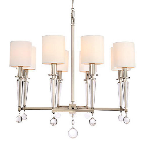 Paxton 8-Light Chandelier, Nickel
