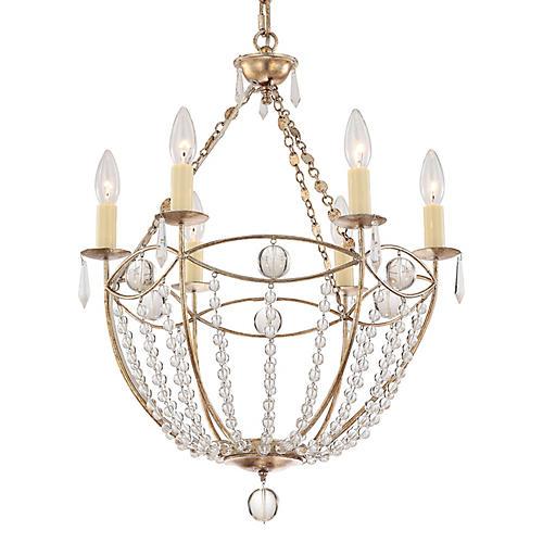 Waverly 6-Light Chandelier, Gold