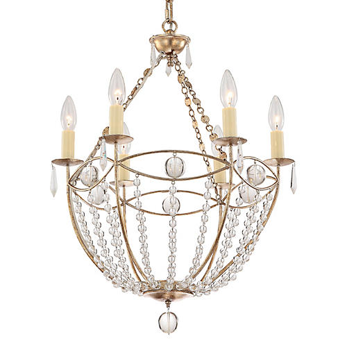Waverly 6-Light Chandelier, Gold