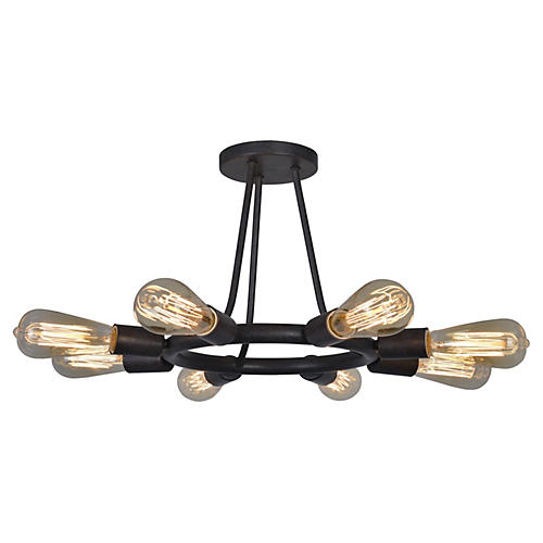 Dakota 8-Light Ceiling Mount, Bronze