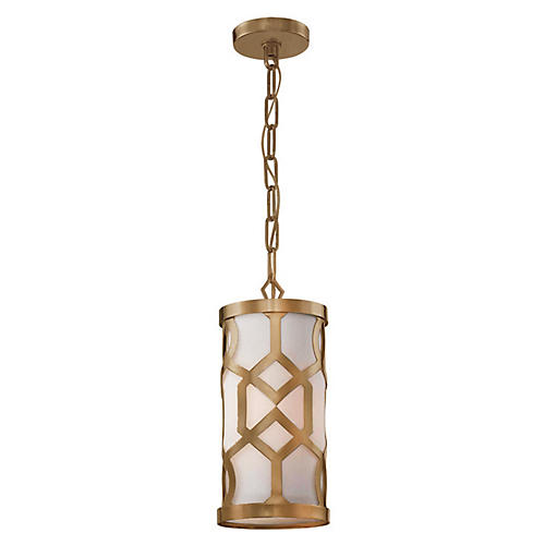 Libby Langdon 4-Light Pendant, Brass