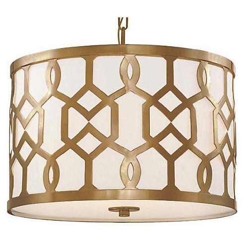 Libby Langdon Chandelier, Brass