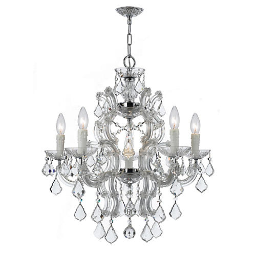 Maria Theresa 6-Light Chandelier, Chrome