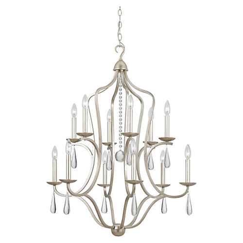 Manning 12-Light Chandelier, Silver