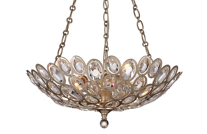 Sterling 3-Light Chandelier, Gold