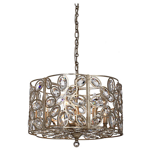 Sterling 6-Light Chandelier, Gold