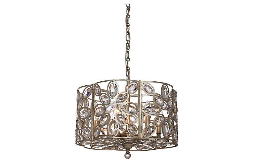 Sterling 6-Light Chandelier, Gold