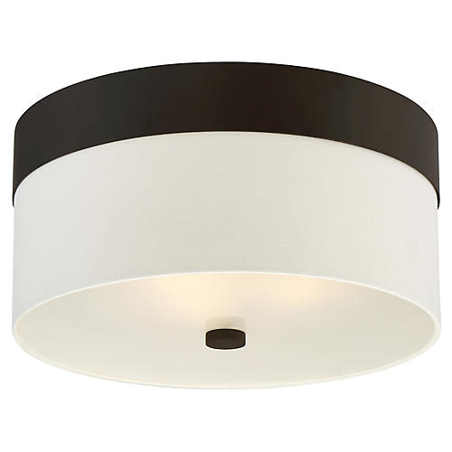 Grayson 3-Light Flush Mount, Dark Bronze