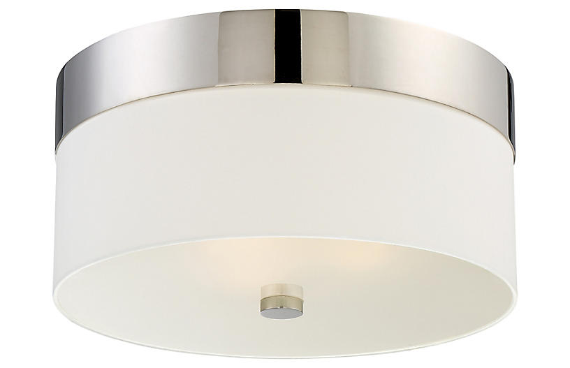 Grayson 3-Light Flush Mount, Nickel