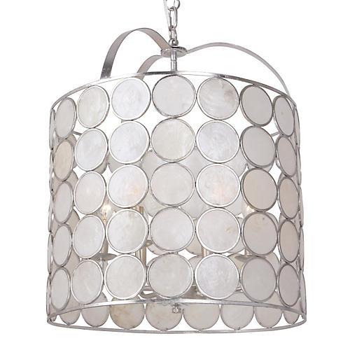 Coco 6-Light Lantern, Antiqued Silver