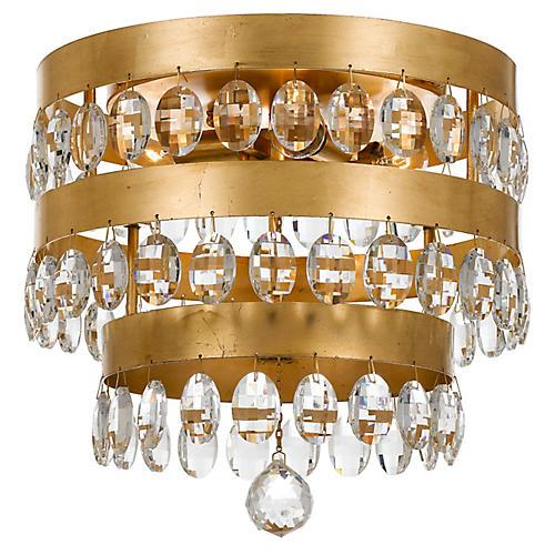 Perla 4-Light Flush Mount, Gold