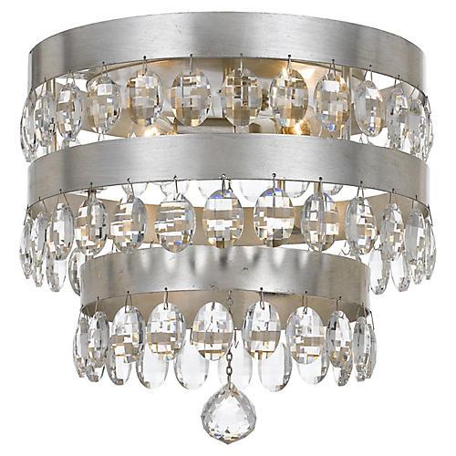 Perla 4-Light Flush Mount, Silver