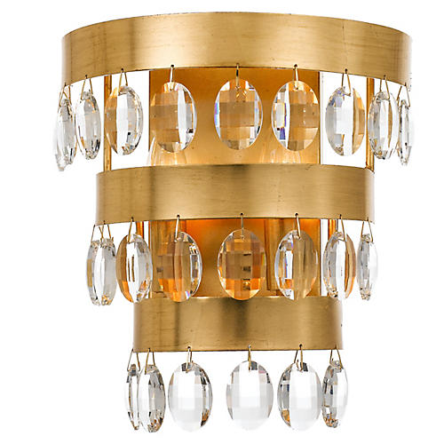 Perla 2-Light Sconce, Gold