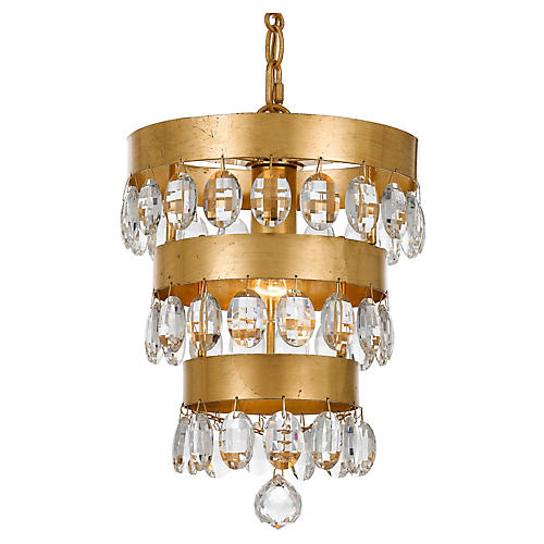 Perla Light Mini Chandelier, Gold