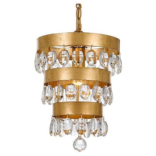 Perla Light Mini Chandelier, Gold