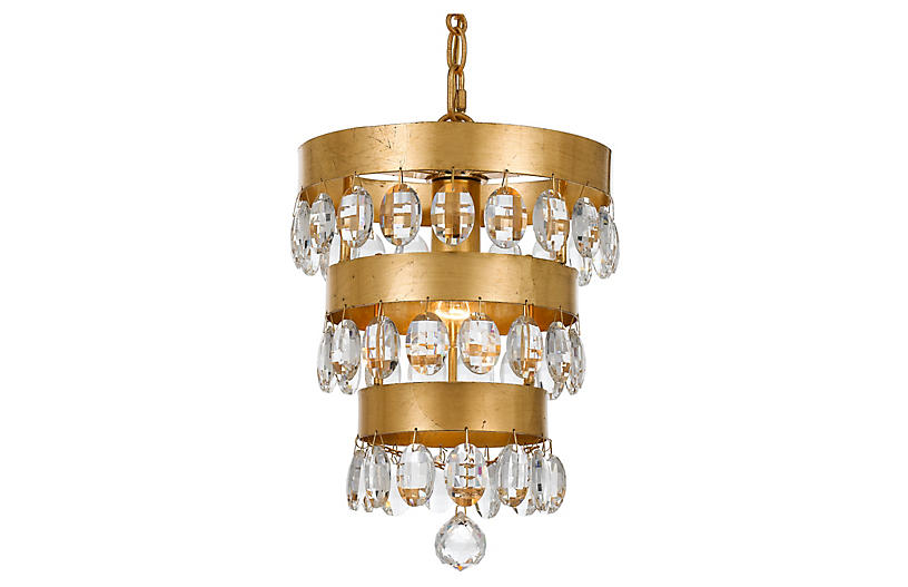Perla Light Mini Chandelier - Gold - Crystorama
